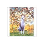 Spring / Whippet Square Sticker 3