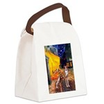 Cafe & Whippet Canvas Lunch Bag