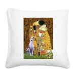 KISS-Whippet8.png Square Canvas Pillow
