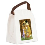 KISS-Whippet8.png Canvas Lunch Bag