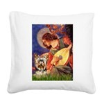 Mandolin Angel / Yorkie (17) Square Canvas Pillow