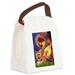 Mandolin Angel / Yorkie (17) Canvas Lunch Bag