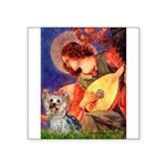 Mandolin Angel & Yorkie (T) Square Sticker 3