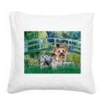 Bridge / Yorkie (T) Square Canvas Pillow