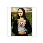 Mona & her Yorkie (T) Square Sticker 3