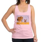 Sunflowers / Yorkie #17 Racerback Tank Top