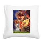 Angel 3 - Yorkshire Terrier Square Canvas Pillow