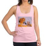 Sunflowers/PBGV + Wheaten T Racerback Tank Top