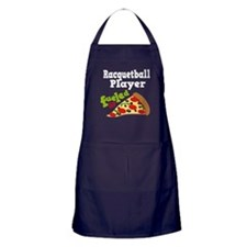 Racquetball Player Funny Pizza Apron (dark)