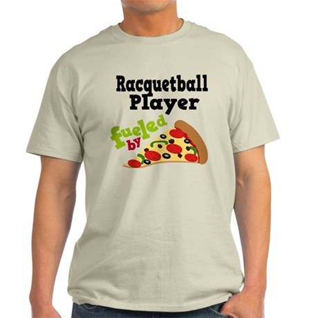 Racquetball Player Funny Pizza T-Shirt by fueledbypizzatshirts