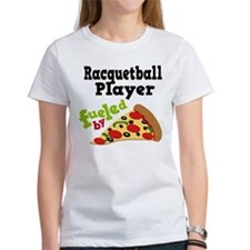 Racquetball Player Funny Pizza Tee