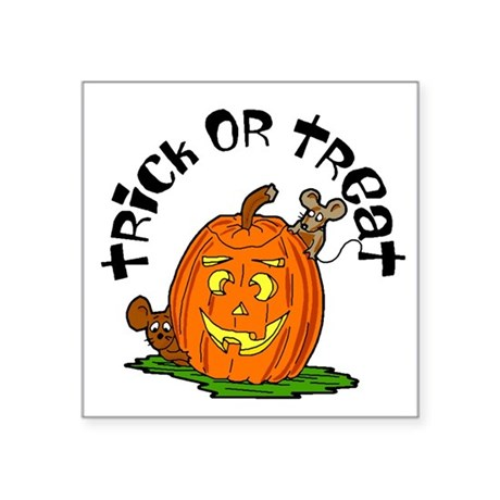 "pumkin.png Square Sticker 3"" x 3"""