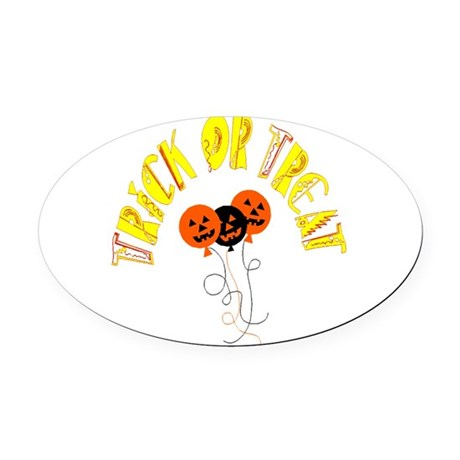 pumpkin5.png Oval Car Magnet