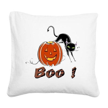 boo1.png Square Canvas Pillow