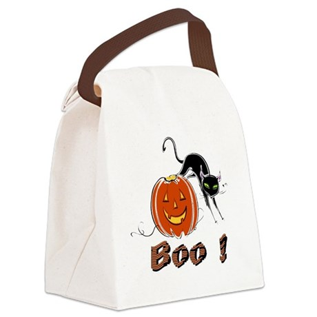 boo1.png Canvas Lunch Bag