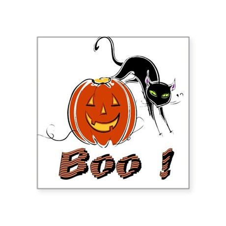 "boo1.png Square Sticker 3"" x 3"""