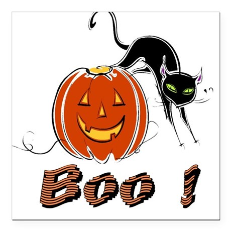 "boo1.png Square Car Magnet 3"" x 3"""