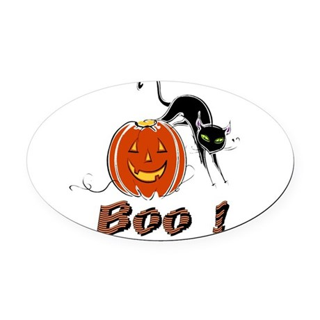 boo1.png Oval Car Magnet