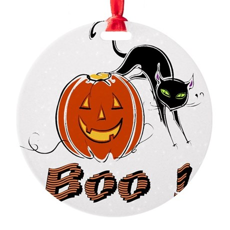boo1.png Round Ornament