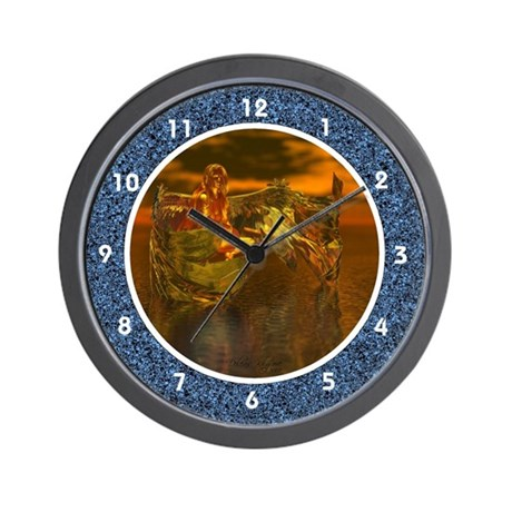 goldangelclk1.jpg Wall Clock