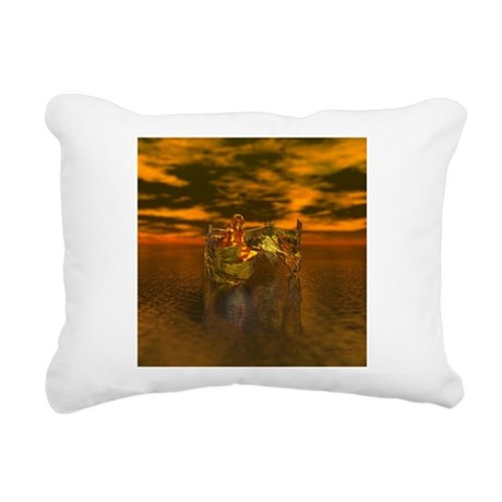 goldangelsq.jpg Rectangular Canvas Pillow