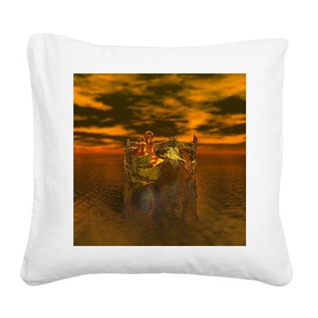 goldangelsq.jpg Square Canvas Pillow