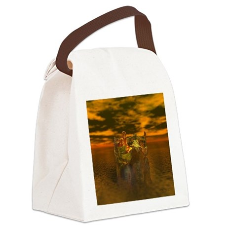 goldangelsq.jpg Canvas Lunch Bag