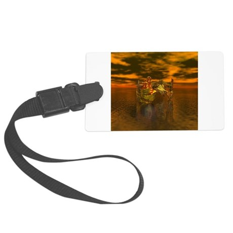 goldangelsq.jpg Large Luggage Tag