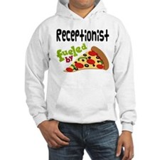 Receptionist Fueled By Pizza Hoodie