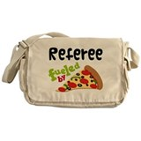 Referee Fueled By Pizza Messenger Bag