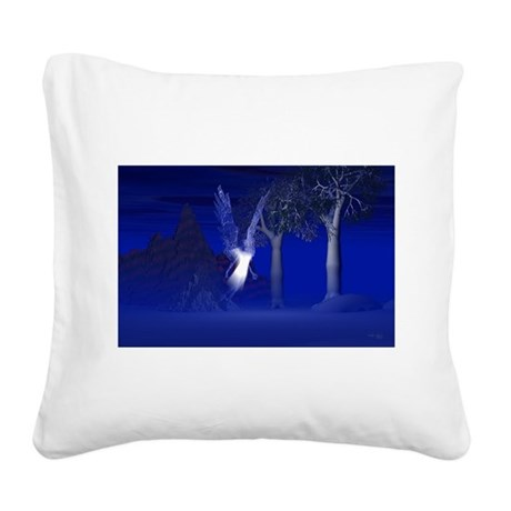 blueangel2lg.jpg Square Canvas Pillow