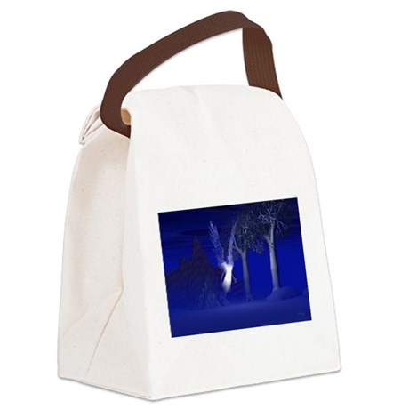 blueangel2lg.jpg Canvas Lunch Bag