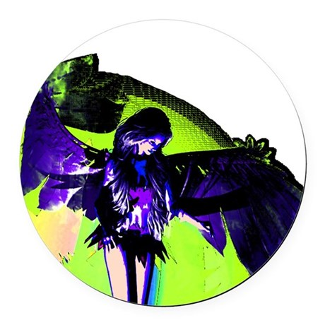 angel_2c.png Round Car Magnet