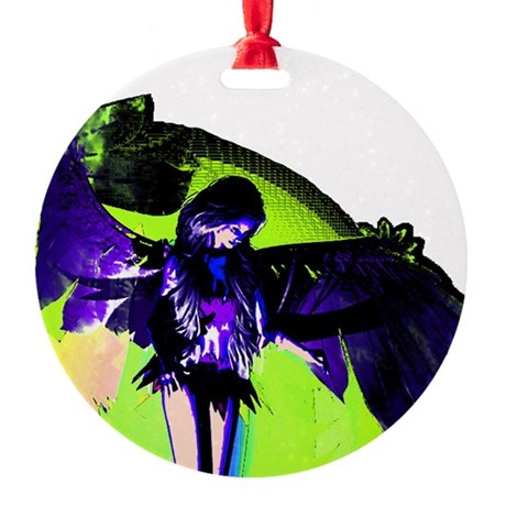 angel_2c.png Round Ornament
