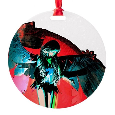 angel_2b.png Round Ornament