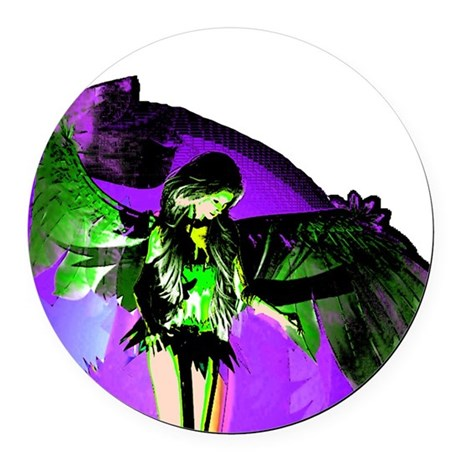 angel_2a.png Round Car Magnet