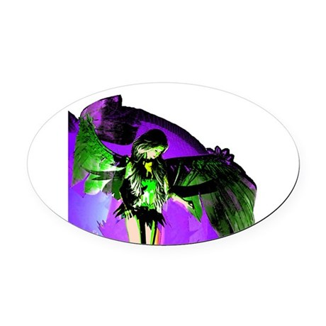 angel_2a.png Oval Car Magnet