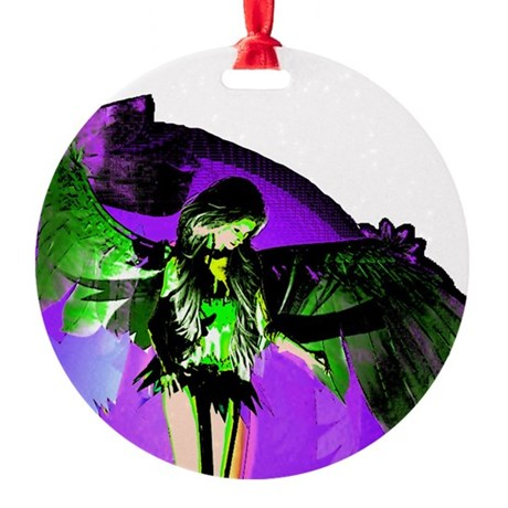angel_2a.png Round Ornament