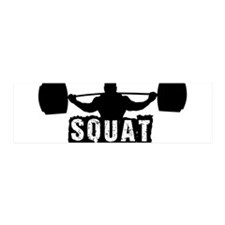 Squat Design. Black. Wall Decal