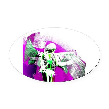 angelf.png Oval Car Magnet