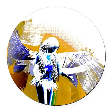 angeld.png Round Car Magnet