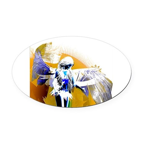 angeld.png Oval Car Magnet
