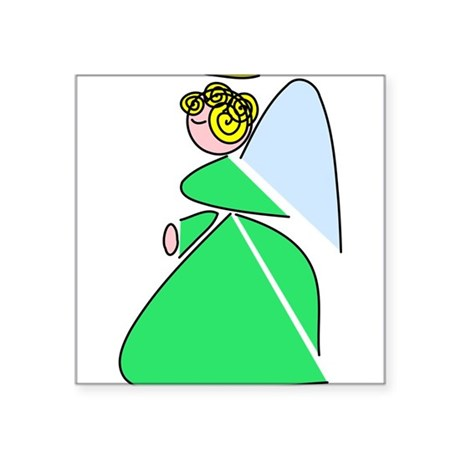 angel9e.png Square Sticker 3&quot; x 3&quot;
