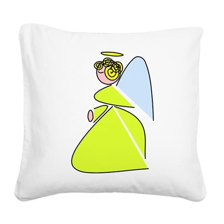 angel9c.png Square Canvas Pillow