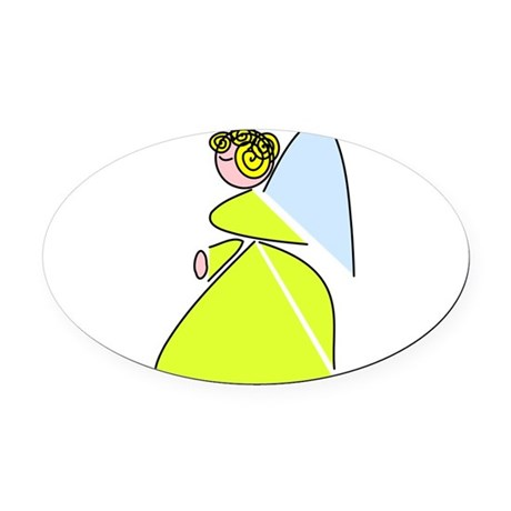 angel9c.png Oval Car Magnet