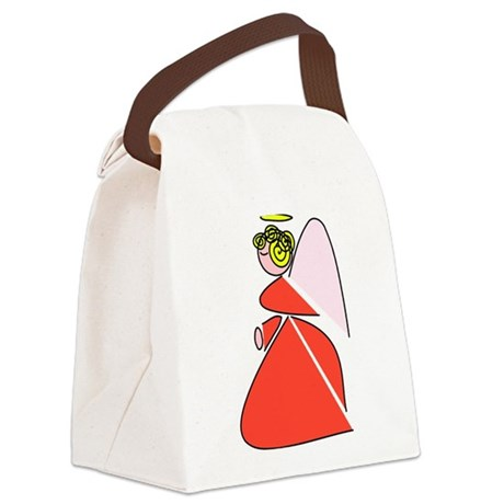 angel9b.png Canvas Lunch Bag