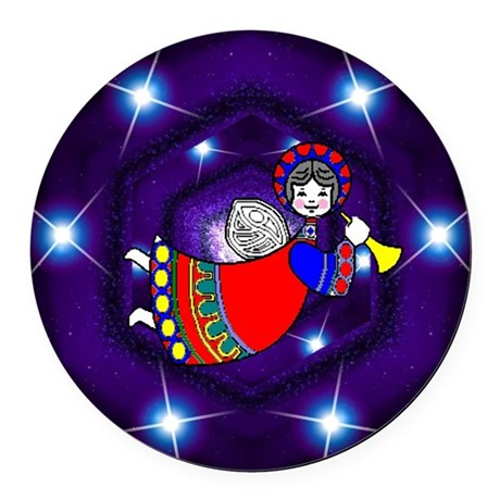 angel2a2.png Round Car Magnet
