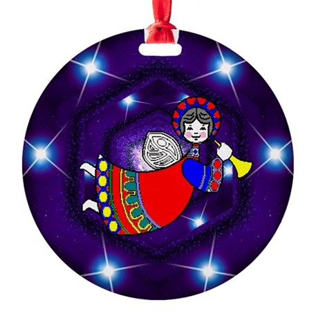 angel2a2.png Round Ornament