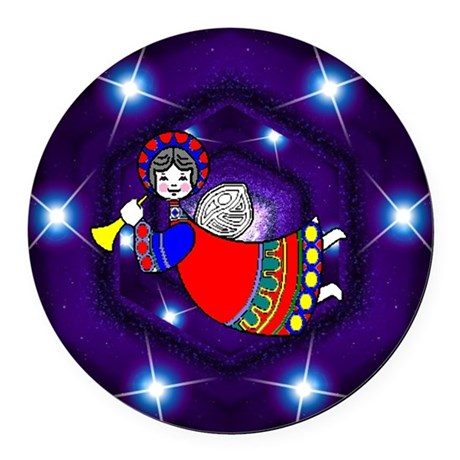 angel2a.png Round Car Magnet