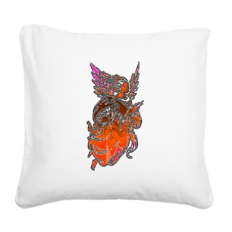 angel3d1.png Square Canvas Pillow
